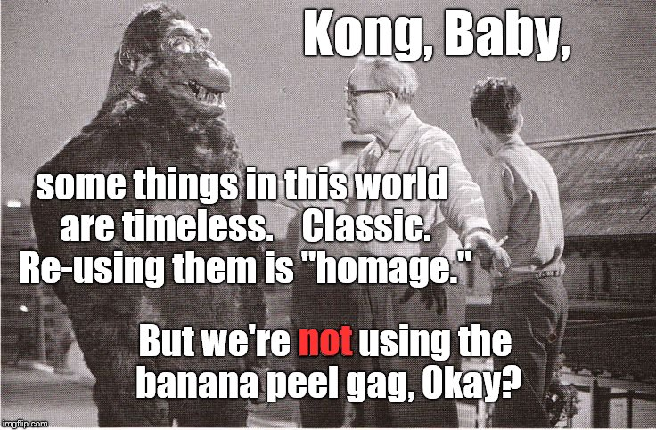 "Ishii-san tries to explain to Kong the difference between theft and homage in Hollywood, the land where ""recycling"" never ends. 