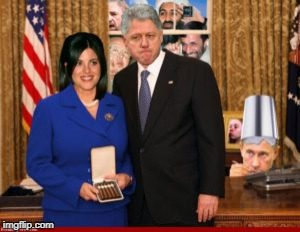 image tagged in bill clinton and monica | made w/ Imgflip meme maker