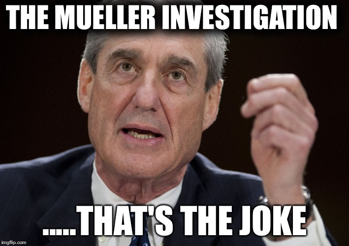 THE MUELLER INVESTIGATION .....THAT'S THE JOKE | image tagged in robert mueller,special investigator | made w/ Imgflip meme maker