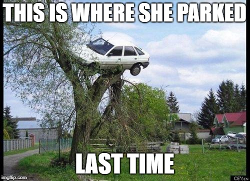 THIS IS WHERE SHE PARKED LAST TIME | made w/ Imgflip meme maker