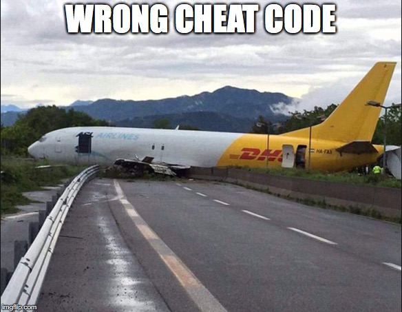 Wrong Cheat Code | WRONG CHEAT CODE | image tagged in gta | made w/ Imgflip meme maker