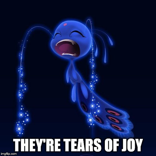 Duusu | THEY'RE TEARS OF JOY | image tagged in miraculous ladybug,duusu,joy,tears,tears of joy | made w/ Imgflip meme maker