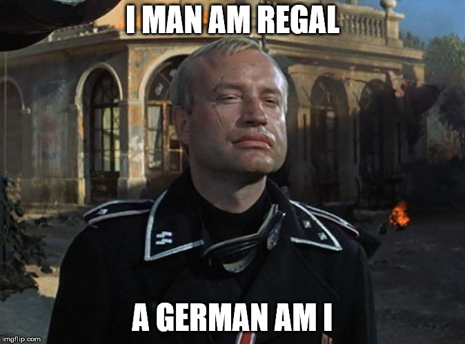 Palindrom | I MAN AM REGAL A GERMAN AM I | image tagged in german tank commander,german,palindrome,tank,i,commander | made w/ Imgflip meme maker
