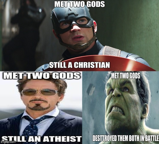 Avengers Logic | image tagged in avengers,captain america,tony stark,hulk | made w/ Imgflip meme maker