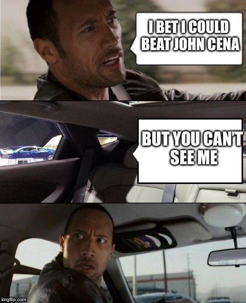 "Why John Cena could beat ""the Rock"" Dwayne Johnson XD 