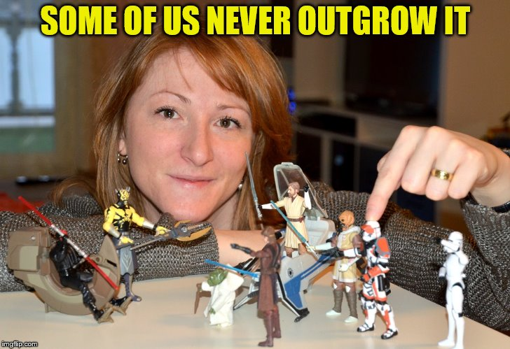 SOME OF US NEVER OUTGROW IT | made w/ Imgflip meme maker