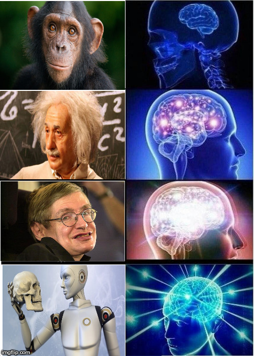 Viva la Evolucion!? | image tagged in memes,brain mind expanding,future,science,seriously,mindfuck | made w/ Imgflip meme maker