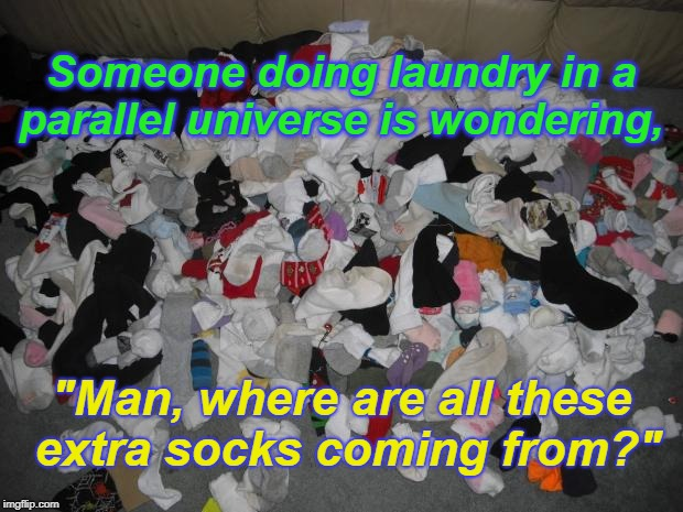 "Whirlpool Wormhole | Someone doing laundry in a parallel universe is wondering, ""Man, where are all these extra socks coming from?"" 