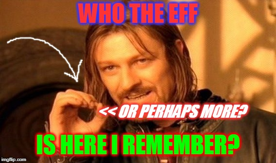 SHABBY ROSE INQUIRES OF THE COMMUNITY | WHO THE EFF IS HERE I REMEMBER? << OR PERHAPS MORE? | image tagged in memes,one does not simply,shabbyrose,return to the flip,imgflippers of the past | made w/ Imgflip meme maker