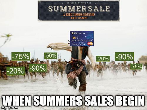 summer sales | WHEN SUMMERS SALES BEGIN | image tagged in memes,jack sparrow being chased | made w/ Imgflip meme maker