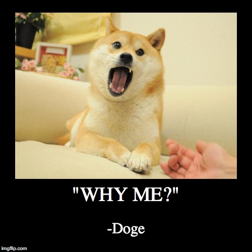 """WHY ME?"" 