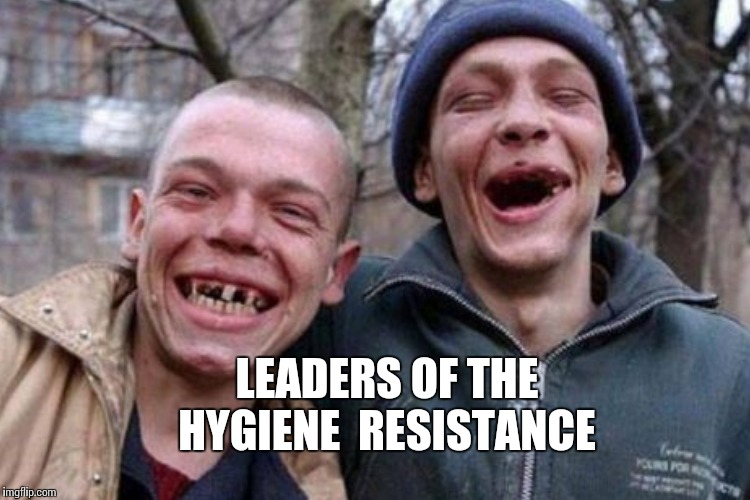 LEADERS OF THE HYGIENE  RESISTANCE | made w/ Imgflip meme maker