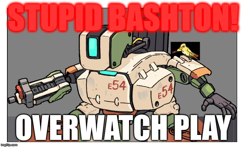 Overwatch | STUPID BASHTON! OVERWATCH PLAY | image tagged in overwatch | made w/ Imgflip meme maker