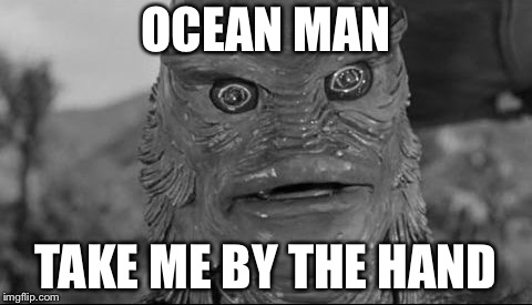 OCEAN MAN TAKE ME BY THE HAND | image tagged in ocean man | made w/ Imgflip meme maker