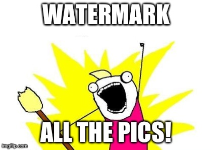 Watermark All the Pics Meme