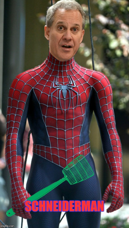 Schneiderman, Schneiderman, does whatever a Schneider can | SCHNEIDERMAN | image tagged in spiderman,eric schneiderman | made w/ Imgflip meme maker