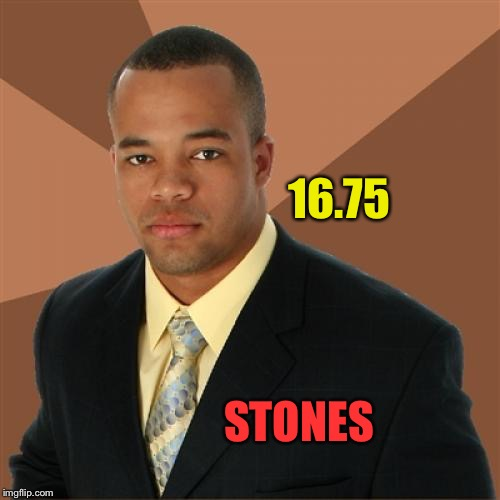 16.75 STONES | made w/ Imgflip meme maker