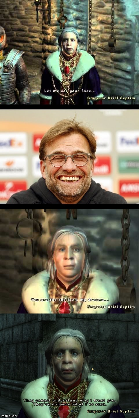 credit to elmin nurkic | image tagged in the chosen one,oblivion,liverpool,jurgen klopp | made w/ Imgflip meme maker