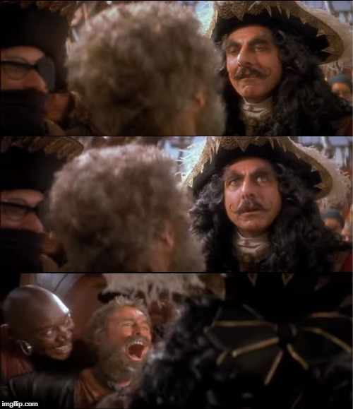 Captain Hook Boo Box | image tagged in captain hook,boo,box,pirate,pirates,traitor | made w/ Imgflip meme maker