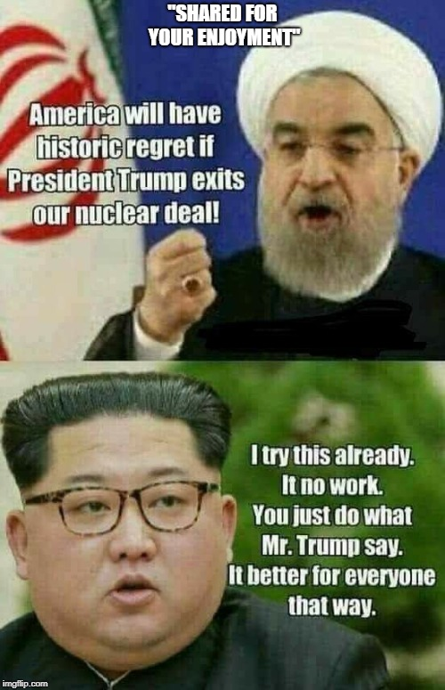 "Just wanted to see this float around. Pretty funny. | ""SHARED FOR YOUR ENJOYMENT"" 