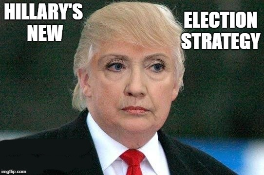 election strategy | HILLARY'S NEW ELECTION STRATEGY | image tagged in hillary clinton | made w/ Imgflip meme maker