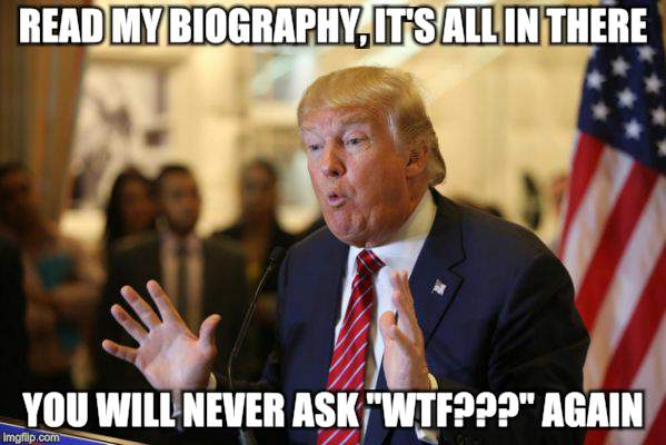 "It's a president thing | READ MY BIOGRAPHY, IT'S ALL IN THERE YOU WILL NEVER ASK ""WTF???"" AGAIN 