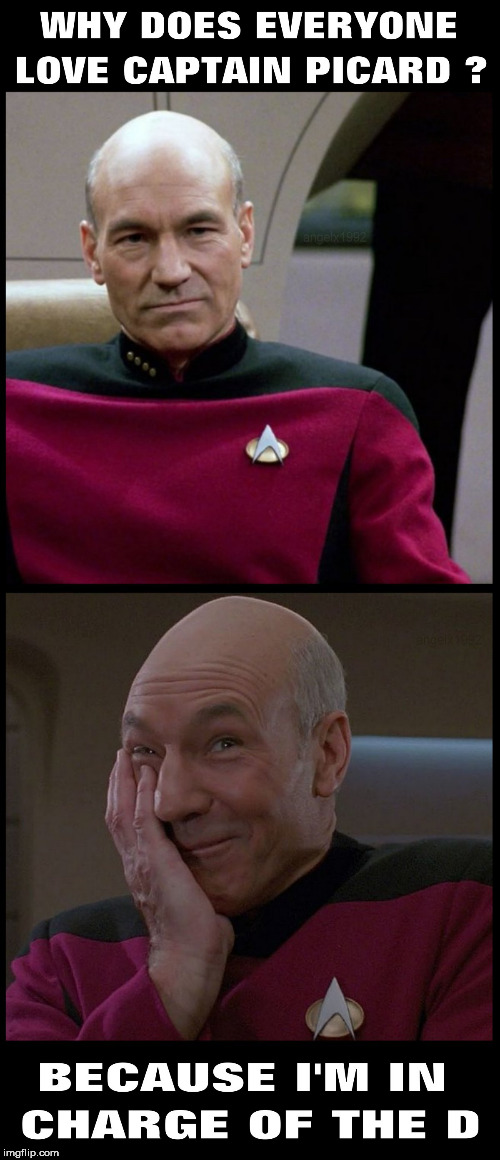 image tagged in picard,captain picard,star trek the next generation,dick,enterprise,star trek | made w/ Imgflip meme maker