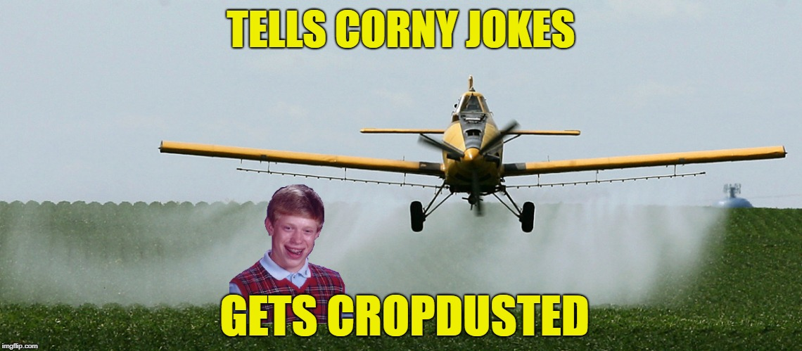 TELLS CORNY JOKES GETS CROPDUSTED | made w/ Imgflip meme maker