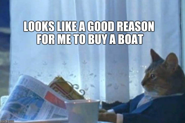 LOOKS LIKE A GOOD REASON FOR ME TO BUY A BOAT | made w/ Imgflip meme maker