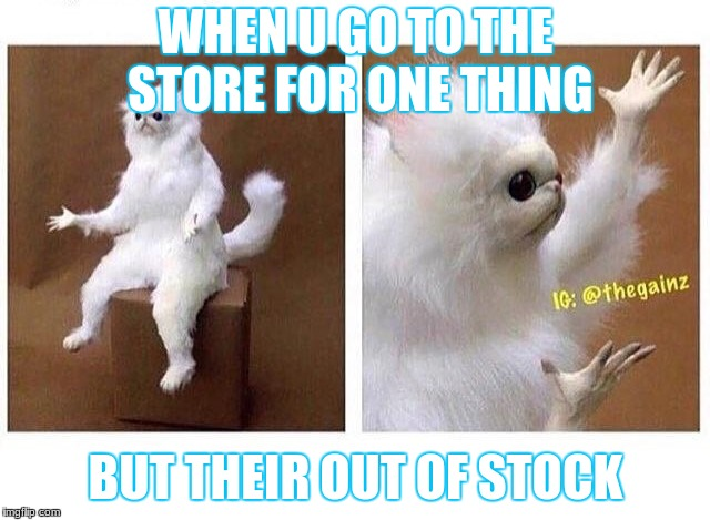 WHEN U GO TO THE STORE FOR ONE THING BUT THEIR OUT OF STOCK | image tagged in why tho | made w/ Imgflip meme maker