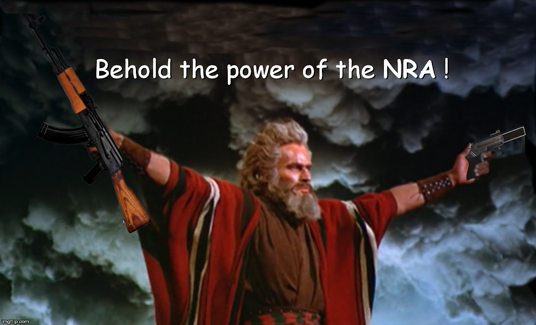 So Let it be Written, So Let it be Done | image tagged in moses,nra | made w/ Imgflip meme maker