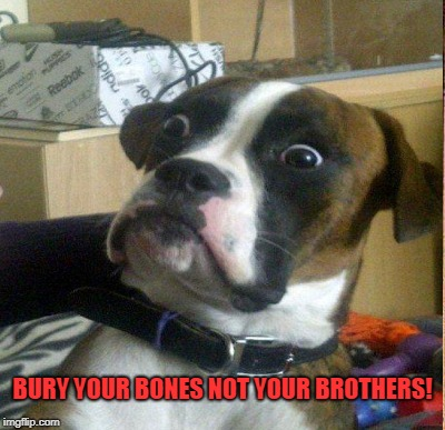 BURY YOUR BONES NOT YOUR BROTHERS! | made w/ Imgflip meme maker