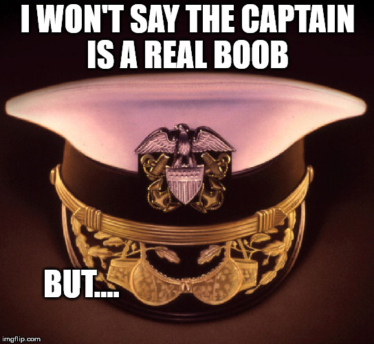 Welcome aboard the Costa Concordia | I WON'T SAY THE CAPTAIN IS A REAL BOOB BUT.... | image tagged in ships,captain | made w/ Imgflip meme maker