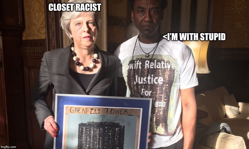 CLOSET RACIST                                                                                                                                | image tagged in teresa may | made w/ Imgflip meme maker