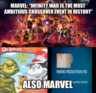 "Marvel Crossovers | MARVEL: ""INFINITY WAR IS THE MOST AMBITIOUS CROSSOVER EVENT IN HISTORY"" ALSO MARVEL 