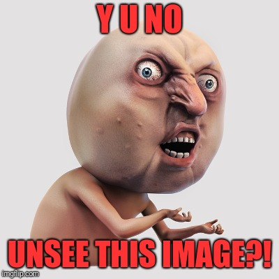 Y U No | Y U NO UNSEE THIS IMAGE?! | image tagged in memes,funny,dank,cannot unsee,3d,real | made w/ Imgflip meme maker