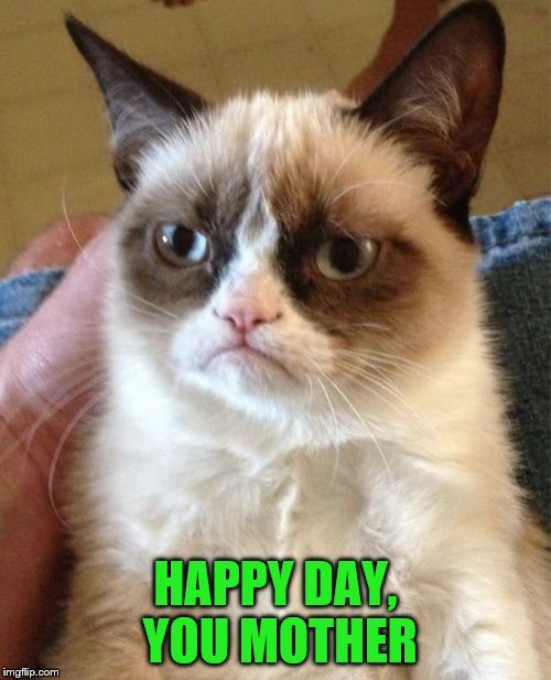 "I think she meant ""Happy Mother's Day""! Cat Weekend, May 11-13, a Landon_the_memer, 1forpeace, & JBmemegeek event! 