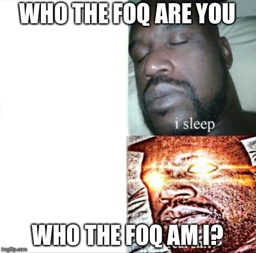 World matrix vex Heaven Matrix | WHO THE FOQ ARE YOU WHO THE FOQ AM I? | image tagged in memes,sleeping shaq,matrixes,yahuah,yahusha,subjectmatters | made w/ Imgflip meme maker