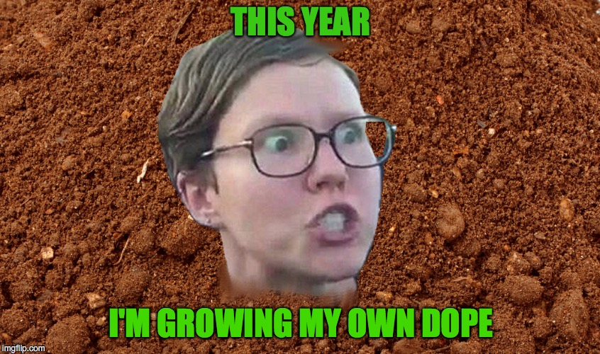 Smoke a Liberal | THIS YEAR I'M GROWING MY OWN DOPE | image tagged in sjw,liberal,college liberal | made w/ Imgflip meme maker