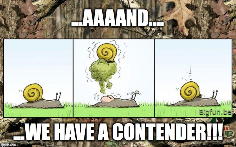 ...AAAAND.... ...WE HAVE A CONTENDER!!! | made w/ Imgflip meme maker