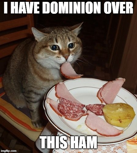 I HAVE DOMINION OVER THIS HAM | made w/ Imgflip meme maker
