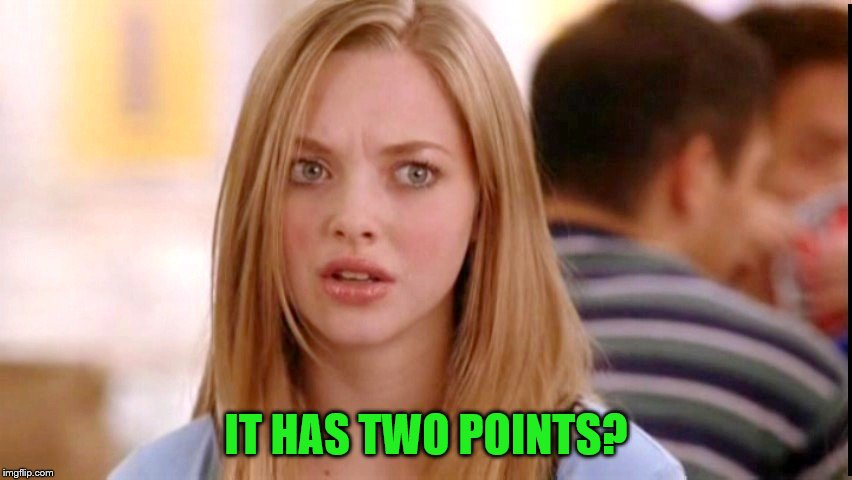 IT HAS TWO POINTS? | made w/ Imgflip meme maker