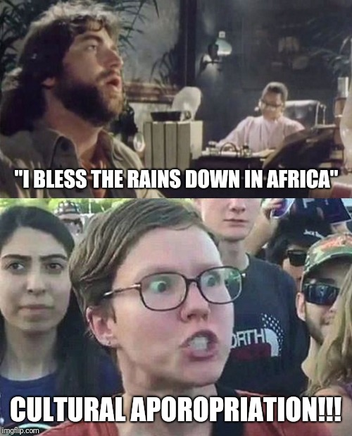 """I BLESS THE RAINS DOWN IN AFRICA"" CULTURAL APOROPRIATION!!! 