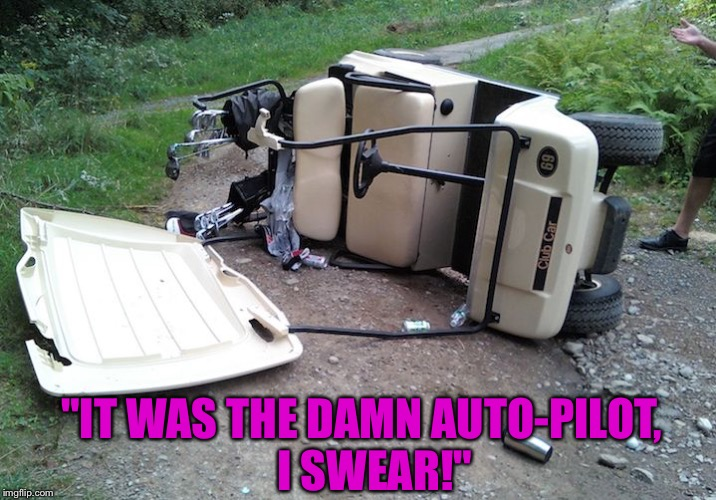"""IT WAS THE DAMN AUTO-PILOT,   I SWEAR!"" 
