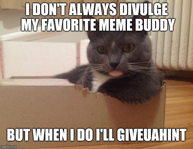 I DON'T ALWAYS DIVULGE MY FAVORITE MEME BUDDY BUT WHEN I DO I'LL GIVEUAHINT | made w/ Imgflip meme maker