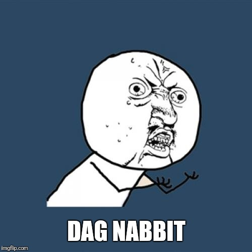 Y U No Meme | DAG NABBIT | image tagged in memes,y u no | made w/ Imgflip meme maker