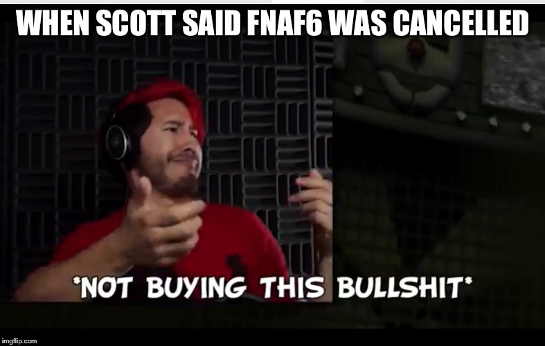 WHEN SCOTT SAID FNAF6 WAS CANCELLED | image tagged in markiplier,markiplier fnafuckboys,markiplier computer stare,fnaf 3 | made w/ Imgflip meme maker