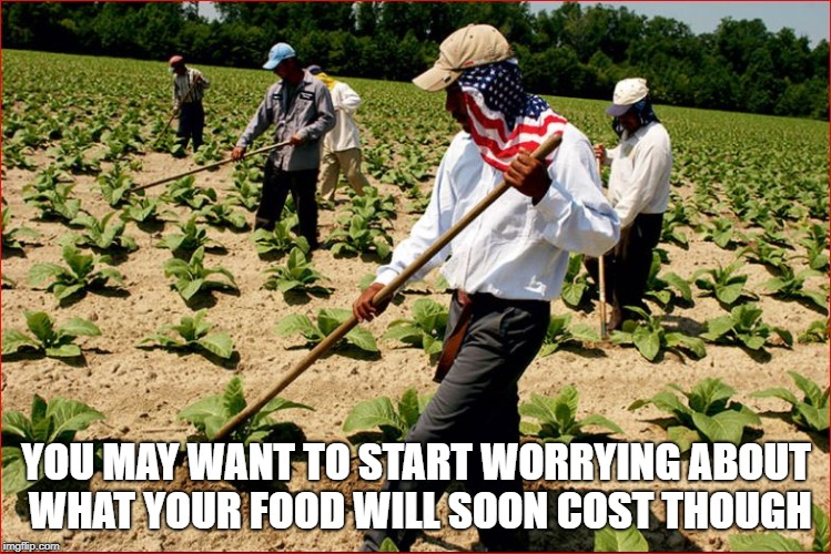 YOU MAY WANT TO START WORRYING ABOUT WHAT YOUR FOOD WILL SOON COST THOUGH | made w/ Imgflip meme maker