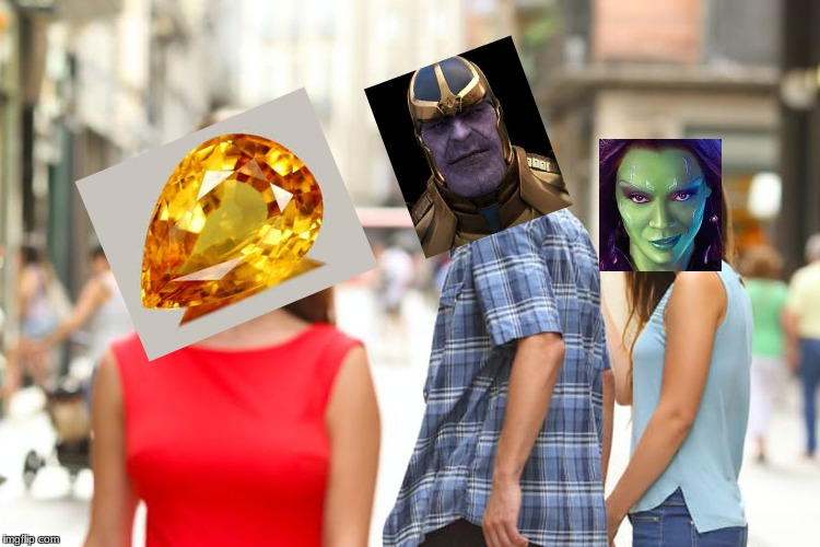 Distracted Boyfriend Meme | image tagged in memes,distracted boyfriend,avengers infinity war | made w/ Imgflip meme maker