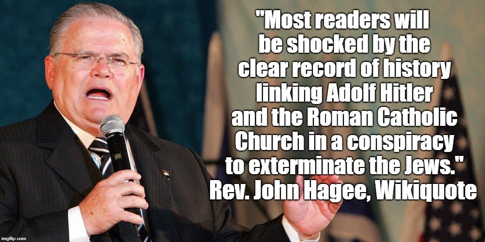 """""""Most readers will be shocked by the clear record of history linking Adolf Hitler and the Roman Catholic Church in a conspiracy to extermina 